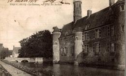 CPA Esquelbecq Le Château Vue Prise Des Jardins - Châteaux