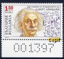 Albert Einstein -140 Years Of His Birth –  Bulgaria / Bulgarie  2019 - Stamp MNH** - Albert Einstein