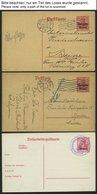 SAMMLUNGEN, LOTS 1914-18, 16 Verschiedene Ganzsachenkarten Und Ein Kartenbrief, Ungebraucht Und Gebraucht, Feinst/Pracht - Besetzungen 1914-18