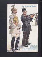 Schweiz Frankreich Humorkarte Wilhelm II 1912 - Guerre 1914-18