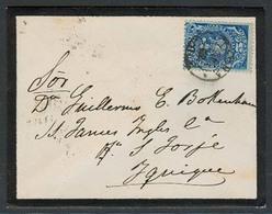 CHILE. 1892 (24 April). Tacna - Iquique. Provisional Period / Postage Stamps / Shortage / 5c Dark Blue Impuesto Cds. Arr - Chile