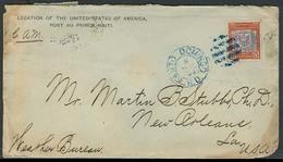 DOMINICAN REP. 1893. Sto Domingo - USA. US Legation Haiti. Fkd Env. Interesting Through Frontier Mail. - Dominicaine (République)