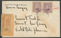 PARAGUAY. 1938. Asuncion - USA. Reg Fkd Env US Consular Service. XF. - Paraguay