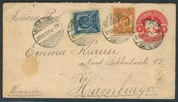 MEXICO - Stationery. 1902. Gomez Palacio / Durango - Germany. 2c Red Stat Env + 2 Adtls. Fine. - Mexiko