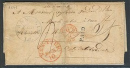 USA. 1841 (1 Feb). Franklin / LA - France. EL Full Text, Paid, Red New York + Arrival. VF. - Unclassified