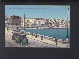 Schweiz AK Basel Strassenbahn Nr. 4 1916 - Tramways
