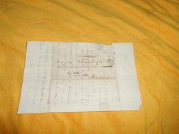LETTRE ANCIENNE DATE ?.../ PARIS POUR AIX...CACHET P...LETTRE A ETUDIER.. - Marcophilie (Lettres)