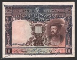 Banknote Spain - 1000 Pesetas - July 1925 – Carlos I - Condition VF - Pick 70c - 1000 Pesetas