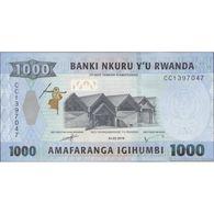 TWN - RWANDA NEW - 1000 1.000 Francs 1.2.2019 Prefix CC UNC - Ruanda