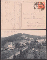 Bärenfeld Bahnpost HAINSBERG-KIPSDDORF ZUG 5305, Schmalspurbahn, Kipsdorf 1918, Ak Ortsansicht Sächsische Erzgebirge - Kipsdorf