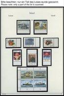 SAMMLUNGEN, LOTS **, Bis Auf Wenige Werte Komplette Postfrische Sammlung Island Von 1989-97 Im KA-BE Album, Zusätzlich E - Lots & Serien