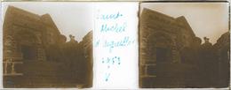 Plaque De Verre Stéréoscopique Positive - Année 1953 - Saint-Michel D'Aiguilhe - L'Église - Plaques De Verre