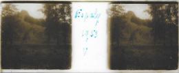 Plaque De Verre Stéréoscopique Positive - Année 1953 - Espaly Saint-Marcel - Vue Générale - Plaques De Verre