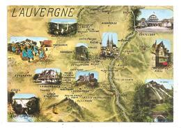 L'Auvergne Carte Géographique (D.56) - France