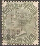 Mauritius - 1885 Queen Victoria 2c Green Used  SG 103 - Mauritius (1968-...)