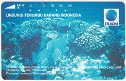 INDONESIA A-170 Optical Telkom - Animal, Sea Life, Coral - Used - Indonesien