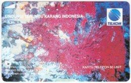 INDONESIA A-216 Optical Telkom - Animal, Sea Life, Coral - Used - Indonesien