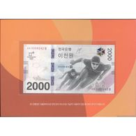 TWN - SOUTH KOREA NEW - 2000 2.000 Won 2018 Winter Olympic Games Pyeong Chang 2018 AA-B Folder UNC - Korea, South