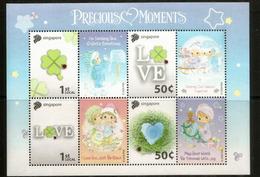 SINGAPOUR. Love. Precious Moments.  Bloc-feuillet Neuf ** (t-p Personnalisés) - Enfance & Jeunesse