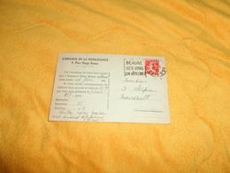 CARTE POSTALE ANCIENNE CIRCULEE DE 1927. / LIBRAIRIE DE LA RENAISSANCE ...BEAUNE. - HOTEL DE LA ROCHEPOT..CACHETS + FLAM - Beaune
