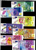 EURO-Spielgeld 5 - 500 Euro, Size 140 X 60 Mm, RRRRR, UNC, Play Money, Uniface - EURO