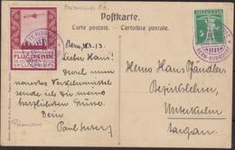 Svizzera Swiss - 665 – Cartolina Di Posta Aerea Del 30.3.13 Berna-Burgdorf, Affrancata Con Percursori Di P.a. 50 C. N. I - Storia Postale