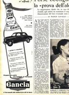 (pagine-pages)PUBBLICITA' GANCIA  Settimanaincom1956/29. - Livres, BD, Revues