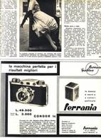 (pagine-pages)PUBBLICITA' FERRANIA  Settimanaincom1956/29. - Livres, BD, Revues