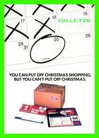 ADVERTISING - PUBLICITÉ - UNITED STATES POSTAL SERVICE, 1989  - LAST-MINUTE CHRISTMAS GIFTS - - Publicité