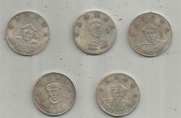 Fausse Monnaie , CHINE , 20 Gr , 40 Mm , LOT DE 5 MONNAIES - China