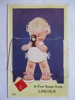 LINCOLN ( Grande-Bretagne) - CARTE A SYSTEME  DEPLIANT 12 Vues - Illustration ATWELL  1950  TBE - Cartoline Con Meccanismi