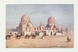 CT--02863-- IL CAIRO - TOMBS OF THE CALIPHS - VIAGGIATA PRIMI ANNI 900-ILLUSTRATA A COLORI- CAMMELLI - Cairo