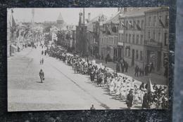 1593/ BASTOGNE-défilé, Fête Patriotique Ou Religieuse- Carte Photo Schumacher - Bastogne