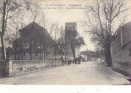 CAHORS : TOUR DU PAPE JEAN XXII ET EGLISE ST BARTHELEMY.ANIMEE 1915. 1 MINI TACHE.PETIT PRIX.COMPAREZ - Cahors