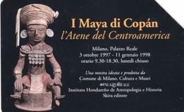 SCHEDA TELEFONICA  I MAYA DI COPAN   SCADENZA 31/12/1999 USATA - Italy