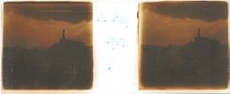 Plaque De Verre Stéréoscopique Positive - Année 1953 - Le Puy En Velay - La Vierge Noire - Plaques De Verre