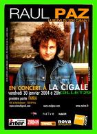 ADVERTISING - PUBLICITÉ - LE CHANTEUR RAUL PAZ, LA RELEVE DU SON CUBAIN EN 1003 - - Publicité