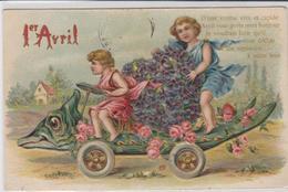 CPA FANTAISIE RELIEF. 1 ER  AVRIL SUPERBE - 1er Avril - Poisson D'avril