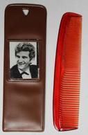 Original Ancien Peigne Publicitaire Avec Photo De Eddy Mitchell Photo R. Ballu SP Bretagne Rennes - Andere Producten