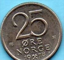 NORWAY / NORVEGE  25 ORE  1978 - Norvège