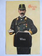 VIENNE - Grüss Aus WIEN  - CARTE A SYSTEME  DEPLIANT 10 Vues - FACTEUR AUTRICHIEN  - 1911   Assez BE - Dreh- Und Zugkarten