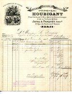 PARIS.PARFUMS & SAVONS DE TOILETTE.HOUBIGNANT PARFUMEUR DE LA REINE D'ENGLETERRE & LA COUR DE RUSSIE 19 Fbg.SAINT HONORE - Drogisterij & Parfum