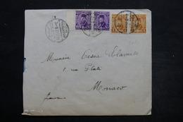 EGYPTE - Enveloppe De Alexandrie Pour Monaco En 1947 , Affranchissement Plaisant - L 25588 - Covers & Documents