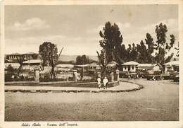 Gd Format:environ15cms X10cms -ref Y369- Ethiopie - Addis Abeba - Piazza Dell Impero - Carte Bon Etat - - Ethiopie