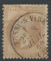 Lot N°46963  N°28B, Oblit Cachet à Date De Tessy-sur-Vire, Manche (48), Ind 7 - 1863-1870 Napoléon III Con Laureles