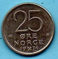 NORWAY / NORVEGE  25 ORE  1974 - Norvège