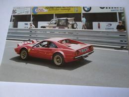 Photo  RASSEMBLEMENT   FERRARI   CIRCUIT DE CHARADE   1989  FERRARI 308 GTB 4 - Automobile