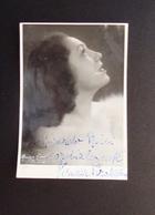 Autografo Miriam Pirazzini Mezzosoprano Foto Cinti Roma Lirica - Autographs