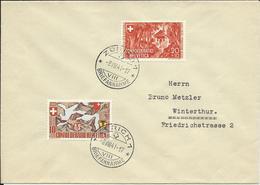 WII 13, 14, 650è Anniversaire Confédération, Obl. Zürich 8.VIII.41 - Pro Patria