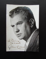 Autografo Gino Cervi Attore E Doppiatore Foto Sam Levin Cinema Teatro - Autographes